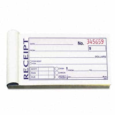 Renters Receipt. Free House Rental Invoice | Receipt Template 15