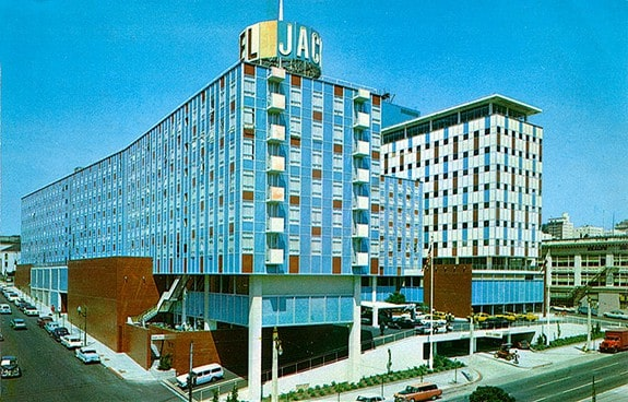 The Jack Tar Hotel in the 1960s no tenants here.